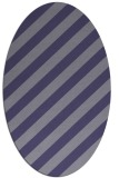 rug #521505 | oval stripes rug