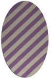 rug #521597 | oval purple stripes rug