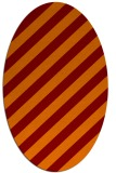 rug #521605 | oval red-orange stripes rug
