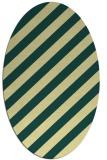 rug #521621 | oval yellow stripes rug