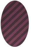 rug #521641 | oval purple stripes rug