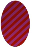 rug #521669 | oval red stripes rug