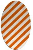 rug #521685   oval red-orange stripes rug
