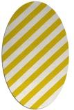 rug #521693 | oval white stripes rug