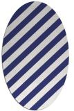 rug #521697 | oval white stripes rug