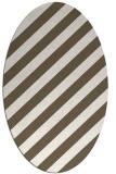rug #521711 | oval stripes rug