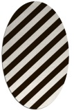rug #521713 | oval brown stripes rug