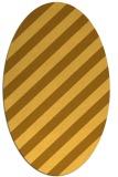rug #521721 | oval yellow popular rug