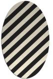 rug #521725 | oval black stripes rug