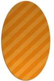 rug #521761   oval light-orange stripes rug