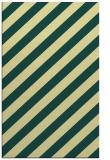rug #521973 |  blue-green stripes rug