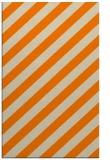 rug #522085 |  orange stripes rug