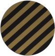 rug #522141 | round mid-brown stripes rug
