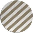 rug #522261 | round mid-brown rug