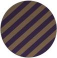 rug #522353 | round mid-brown stripes rug