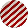 rug #522361 | round red rug