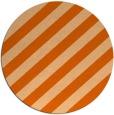 rug #522381 | round red-orange stripes rug