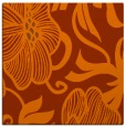 rug #524841 | square red-orange natural rug