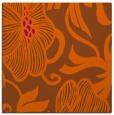 rug #524849 | square red-orange natural rug