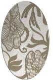 rug #524937 | oval beige natural rug