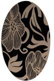rug #524949 | oval black natural rug