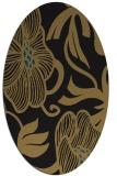 rug #524957 | oval mid-brown rug