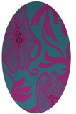 rug #525001 | oval pink rug