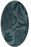 rug #525009 | oval blue-green natural rug