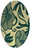 rug #525141 | oval blue-green natural rug