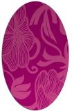 rug #525145 | oval pink natural rug
