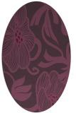 rug #525161   oval purple natural rug