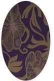 rug #525169 | oval mid-brown natural rug