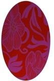 rug #525189   oval red natural rug