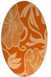 rug #525197 | oval red-orange natural rug