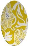 rug #525237 | oval yellow natural rug
