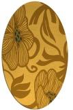 rug #525241 | oval yellow natural rug