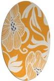 rug #525285   oval light-orange natural rug