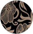 rug #525653 | round black natural rug