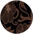 rug #525657 | round black natural rug