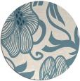 rug #525665 | round blue-green rug