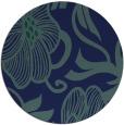 rug #525673 | round blue natural rug