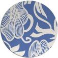 rug #525681 | round blue natural rug