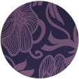 rug #525737 | round purple natural rug