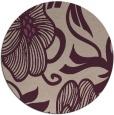 rug #525797 | round pink natural rug