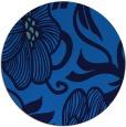 rug #525809 | round blue natural rug