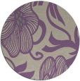 rug #525821 | round purple natural rug
