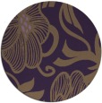 rug #525873 | round purple natural rug