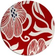 rug #525881 | round red natural rug