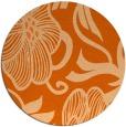 rug #525901 | round red-orange natural rug