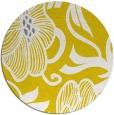 rug #525941   round yellow natural rug